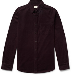 Club Monaco Slim-Fit Button-Down Collar Cotton-Corduroy Shirt