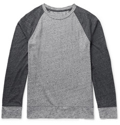 Club Monaco Colour-Block Mélange Cotton-Blend Jersey T-Shirt