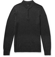 Club Monaco Slim-Fit Mélange Merino Wool Half-Zip Sweater