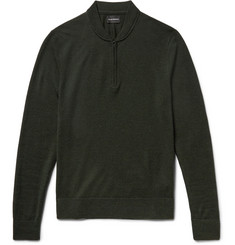 Club Monaco Slim-Fit Merino Wool Half-Zip Sweater