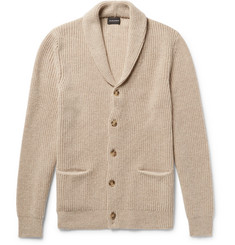Club Monaco Slim-Fit Shawl-Collar Ribbed Merino Wool Cardigan