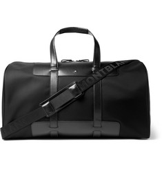 Montblanc - Panelled Leather and Canvas Duffle Bag