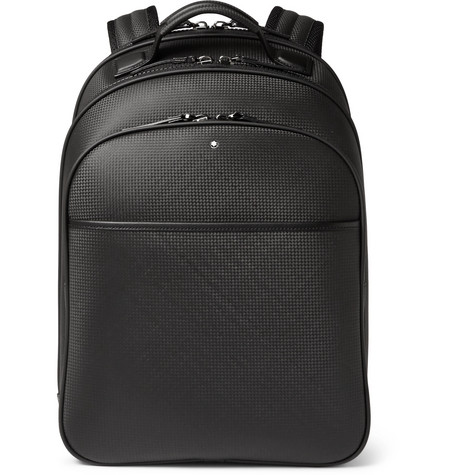 Montblanc Extreme Small Textured-Leather Backpack In Black