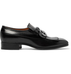 Gucci Novel Fringed Leather Loafers