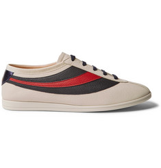 Gucci Falacer Embroidered Leather Sneakers