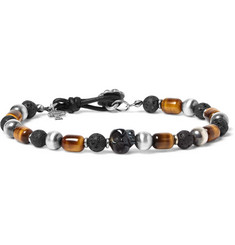 Peyote Bird Sterling Silver, Tiger's Eye and Onyx Bracelet
