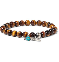 Peyote Bird Sterling Silver, Tiger's Eye and Turquoise Bracelet
