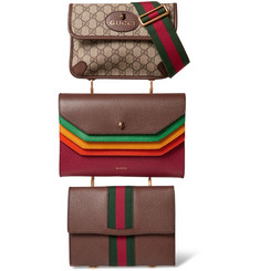 Gucci - Totem Set of Three Leather and Coated-Canvas Bags