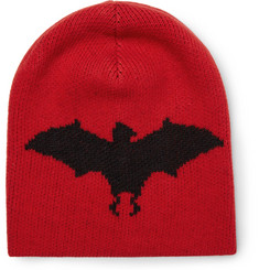 Gucci - Bat-Intarsia Wool and Alpaca-Blend Beanie