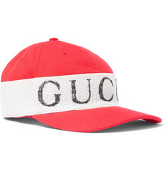 Gucci Terry-Panelled Cotton-Twill Baseball Cap