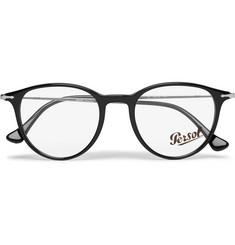 Persol Round-Frame Acetate and Silver-Tone Optical Glasses