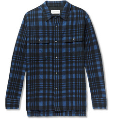 Solid Homme - Checked Wool-Blend Flannel Shirt