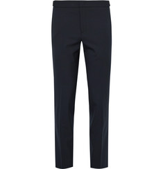 Solid Homme Slim-Fit Stretch-Wool Trousers