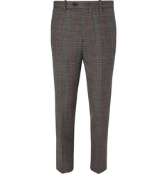 Solid Homme Slim-Fit Tapered Prince of Wales Checked Wool-Tweed Trousers