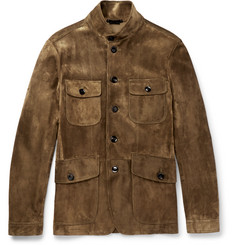 TOM FORD - Icon Military Slim-Fit Suede Field Jacket