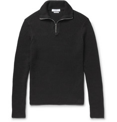 Sandro Ribbed Cotton Half-Zip Sweater