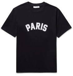 Sandro Paris Appliquéd Cotton-Jersey T-Shirt