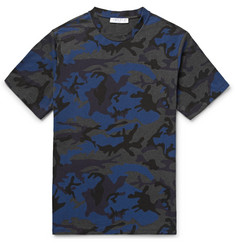 Sandro Camouflage-Print Cotton-Blend Jersey T-Shirt