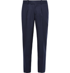 Sandro Slim-Fit Pleated Wool Trousers
