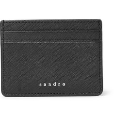 Sandro Cross-Grain Leather Cardholder
