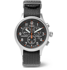 Timex - Scout Stainless Steel and Webbing Watch