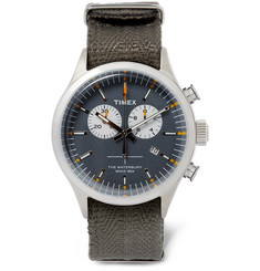 Timex - Archive Waterbury Stainless Steel and Webbing Watch