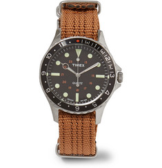 Timex - Navi Harbor Stainless Steel and Webbing Watch