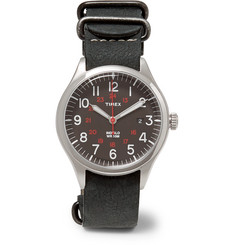 Timex - Waterbury United Stainless Steel and Nubuck Watch