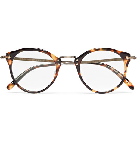 7a26913edbd Oliver Peoples Op-505 Round-Frame Tortoiseshell Acetate And Gold-Tone  Sunglasses