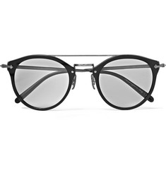 Oliver Peoples - Remick Round-Frame Acetate and Gunmetal-Tone Sunglasses
