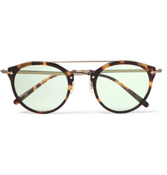 Oliver Peoples Remick Round-Frame Tortoiseshell Acetate and Gold-Tone Sunglasses