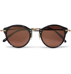 Oliver Peoples - OP-505 Round-Frame Acetate and Gold-Tone Sunglasses
