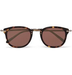 Oliver Peoples - Round-Frame Tortoiseshell Acetate and Silver-Tone Sunglasses