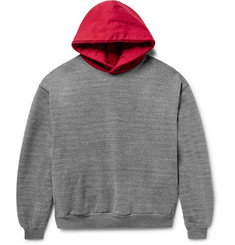 Fear of God Everyday Oversized Two-Tone Cotton-Blend Jersey Hoodie