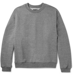 Fear of God - Mélange Loopback Cotton-Blend Jersey Sweatshirt