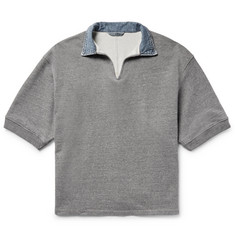 Fear of God Denim-Trimmed Loopback Cotton-Blend Jersey Polo Shirt