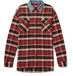 Fear of God - Oversized Denim-Trimmed Checked Cotton-Flannel Overshirt