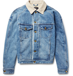 Fear of God - Corduroy-Trimmed Faux Shearling-Lined Denim Jacket