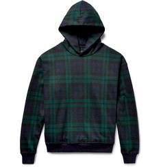Fear of God Black Watch Checked Loopback Cotton-Jersey Hoodie