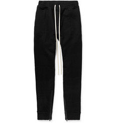 Fear of God Slim-Fit Tapered Loopback Cotton-Jersey Drawstring Trousers