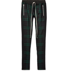 Fear of God - Skinny-Fit Checked Wool-Twill Drawstring Trousers