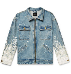 Fear of God Oversized Painted Selvedge Denim Jacket