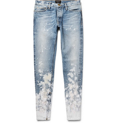 Fear of God - Skinny-Fit Zip-Detailed Painted Selvedge Denim Jeans