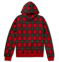 Fear of God Oversized Black Watch Checked Loopback Cotton-Jersey Hoodie