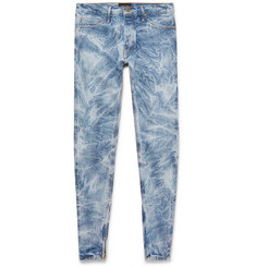 Skinny Fit Distressed Selvedge Denim Jeans by Fear Of God
