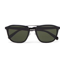 Prada Square-Frame Acetate And Gunmetal-Tone Sunglasses