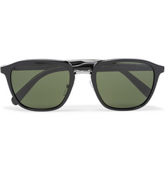 Prada Square-Frame Acetate and Silver-Tone Sunglasses