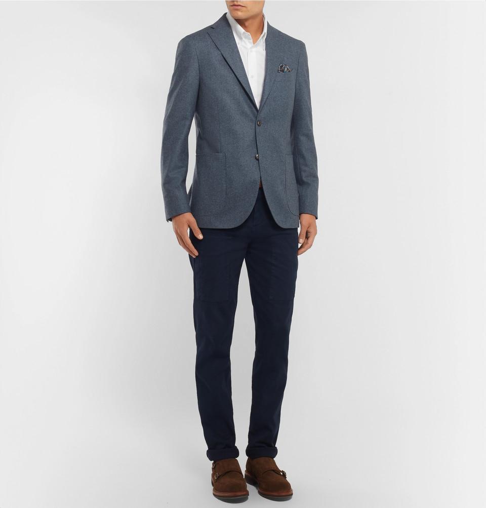 Brunello Cucinelli Button-Down Collar Cotton Shirt
