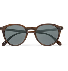 Berluti + Oliver Peoples Rue Marbeuf Round-Frame Acetate Polarised Mirrored Sunglasses
