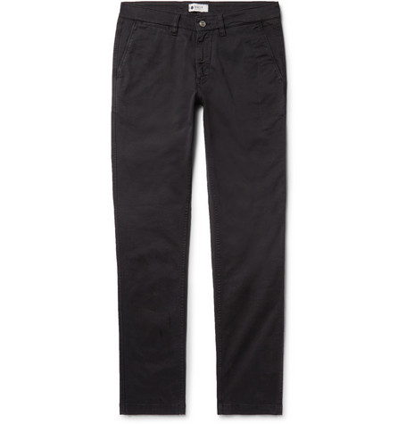 Marco Slim-fit Stretch-cotton Twill Chinos - Black